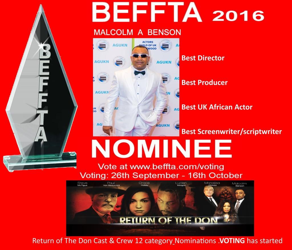 Malcolm Benson Beffta awards 201